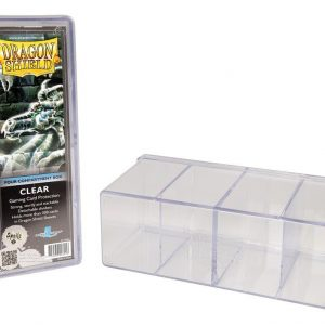 Dragon Shield Deck Box 4 Compartment Clear 1 4150