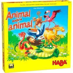 animal sobre animal el tambaleante juego de apilar