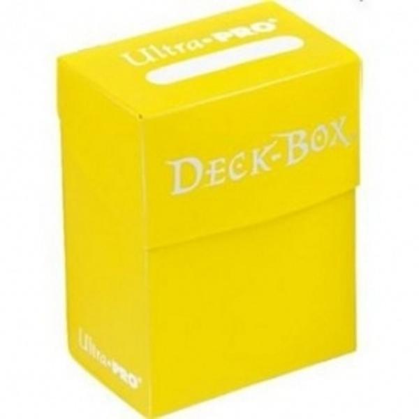 card games accessories bright yellow deck box single unit
