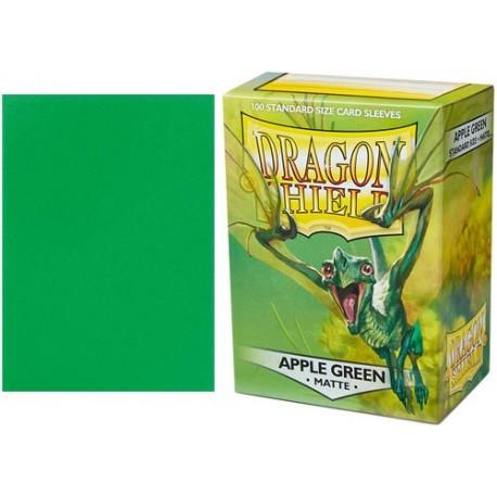 dragon shield matte standard sleeves apple green 100