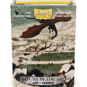 fundas standard art sleeves classic hunters in the snow dragon shield paquete de 100