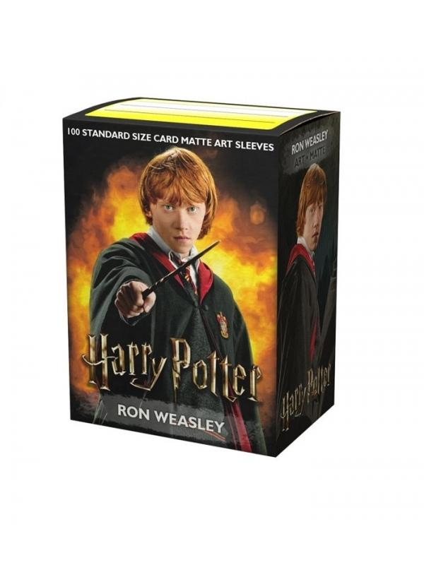 fundas standard art sleeves matte ron weasley limited edition dragon shield paquete de 100