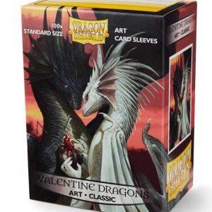 fundas standard dragon shield valentine dragons art classic paquete de 100