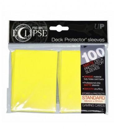 fundas ultra pro matte eclipse standard 100 66x91 amarillo