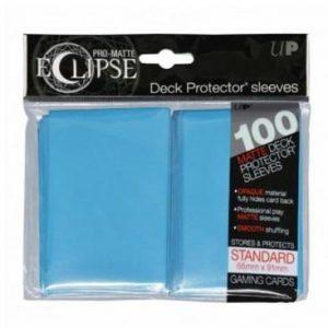 fundas ultra pro matte eclipse standard 100 66x91 azul claro