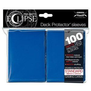fundas ultra pro matte eclipse standard 100 66x91 azules