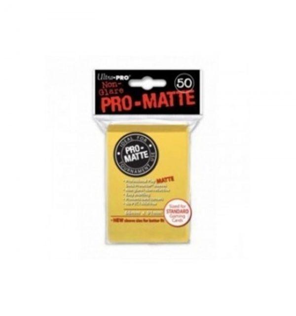 fundas ultra pro standard pro matte 66 x 91 color amarilo paquete de 50