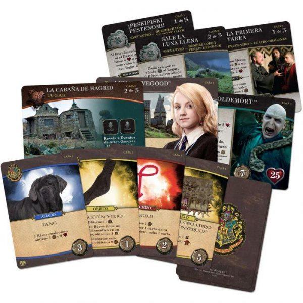 harry potter caja monstruosa cartas