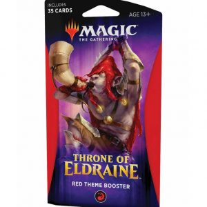 magic el trono de eldraine sobre theme rojo ingles