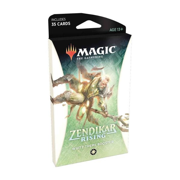 magic the gathering theme booster zendikar rising white english