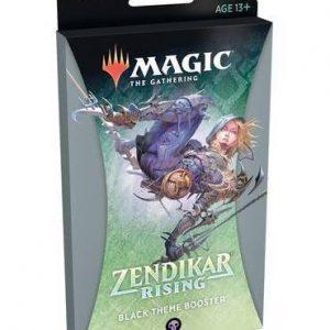 magic the gathering zendikar rising black theme booster ingles