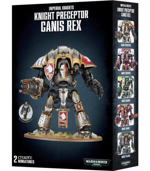 warhammer 40000 imperial knights knight preceptor canis