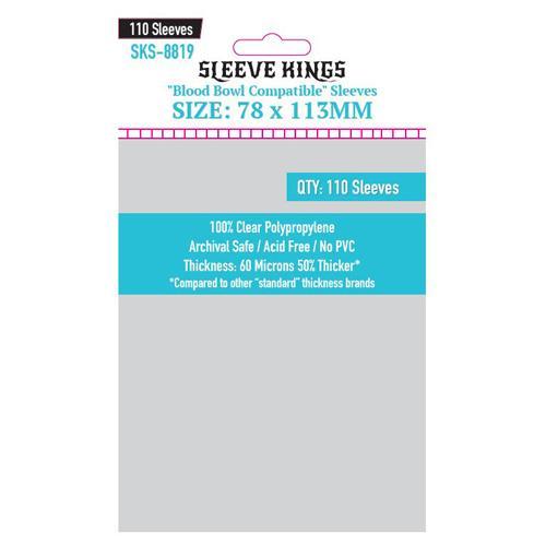 Sleeve Kings Blood Bowl Card Sleeves x 110 78mm x 113mm
