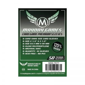 fundas premium card game sleeves drak green 635x88mm 50u