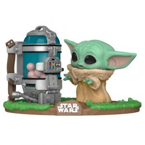 Figura funko POP Star Wars baby yoda huevos The Mandalorian Child with Canister 1