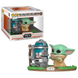 Figura funko POP Star Wars baby yoda huevos The Mandalorian Child with Canister 3