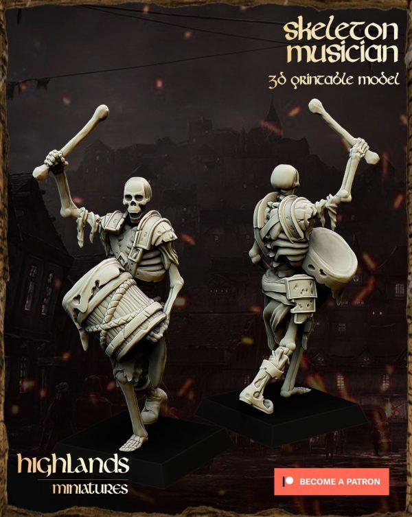 skeleton musician